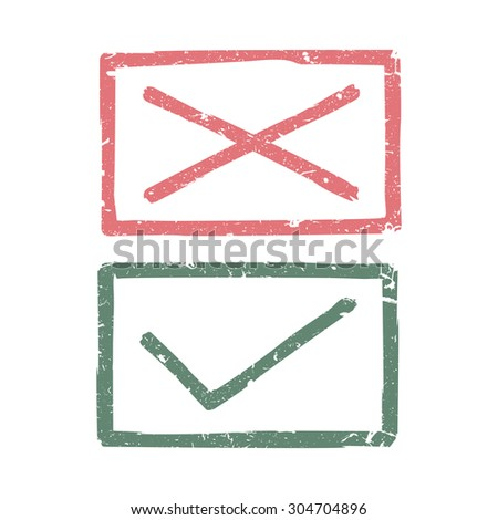 Check marks. Raster version - stock photo