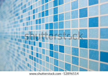 Check pattern tile background, perspective view. - stock photo