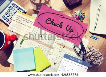 Check up Event To Do List Headline Concept - stock photo