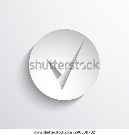 check web flat icon illustration. - stock photo