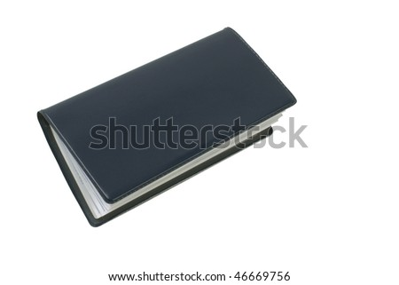 Checkbook blue - stock photo