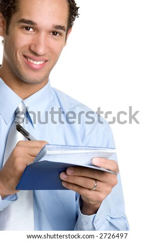 Checkbook Man - stock photo