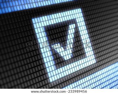 Checkbox icon - stock photo