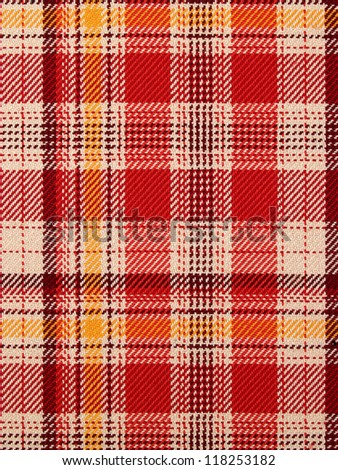 checked fabric texture - stock photo