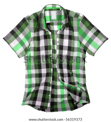 checked shirt - stock photo
