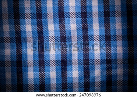 checked textile close up