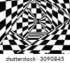 Checkerboard background - stock photo