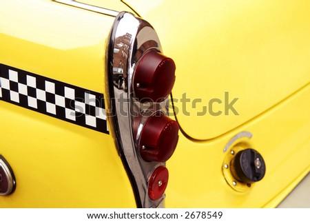checkered cab - stock photo