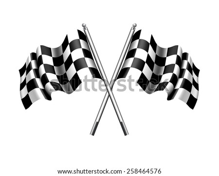 Checkered Chequered Flag - Raster Version - stock photo