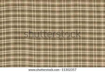 Checkered fabric background - series - brown. More fabrics available in my port. - stock photo