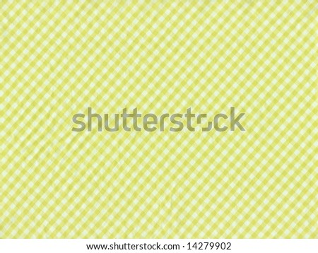 Checkered fabric closeup - series - yellow. Good for background. More fabrics in my port. - stock photo