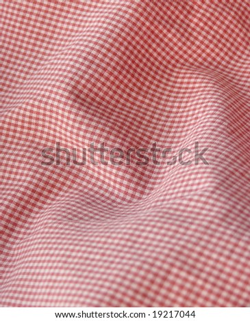 Checkered fabric. Red. More fabrics in my port.