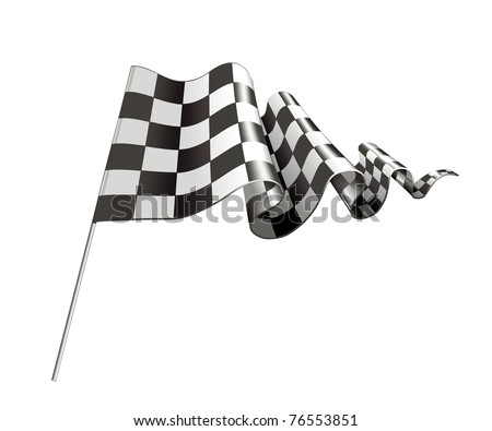Checkered Flag, bitmap copy - stock photo