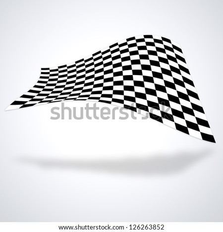 Checkered flag isolated on white baackground - stock photo