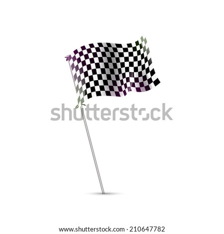 Checkered flag, Race Flag, finish, start formula one, motocross, truck, pursuit icon isolated - stock photo