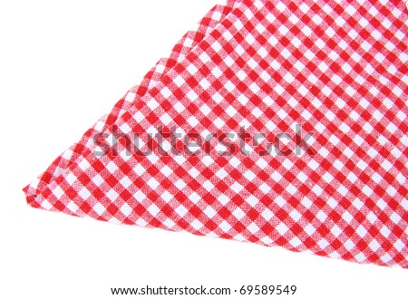checkered napkin isolated