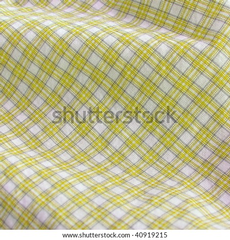 checkered subtle textile closeup. More of this motif & more fabrics in my port. - stock photo
