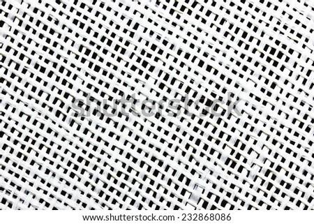 Checkered table mat closeup texture. - stock photo