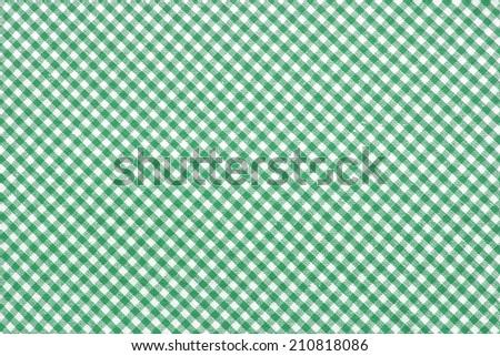 Checkered Tablecloth/ Checkered Tablecloth - stock photo