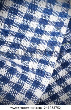 checkered tablecloth texture - stock photo
