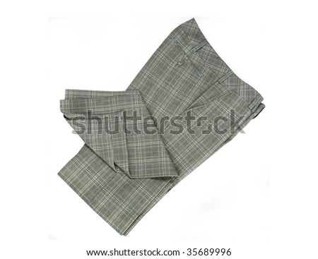checkered trousers - stock photo