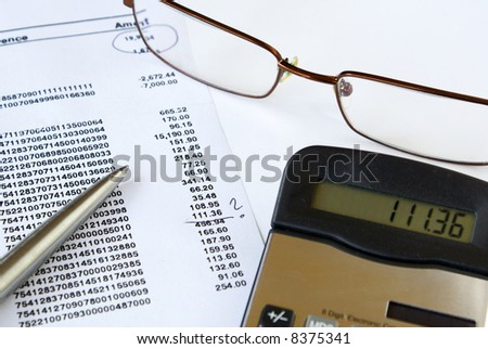 Checking credit card statement - stock photo