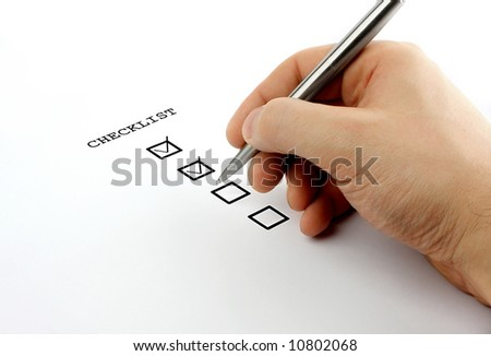 checklist - stock photo