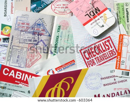 Checklist for Travelers - stock photo