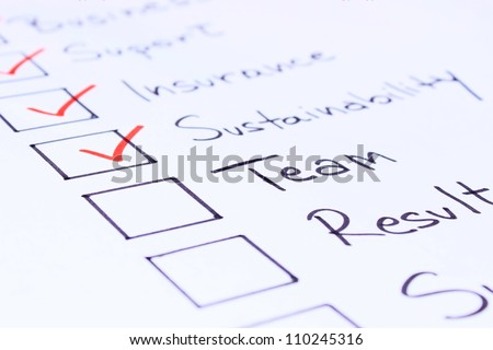 checklist of things needed to start a business - stock photo