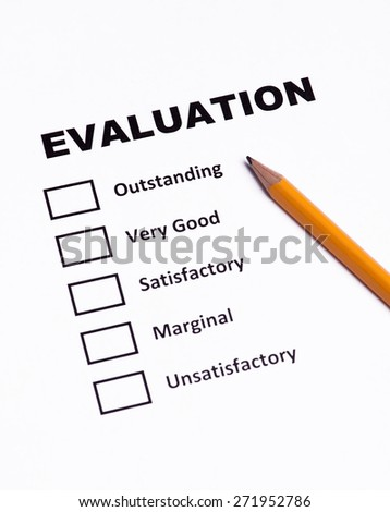Checklist  performance evaluation - stock photo