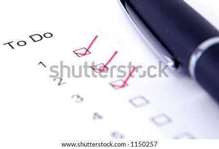 checklist to do - stock photo