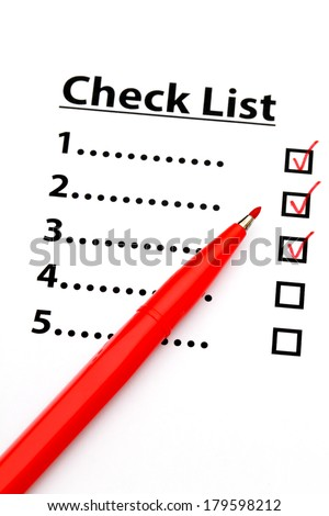 Checklist with number - stock photo