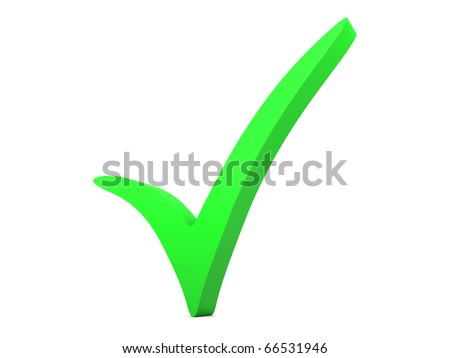 Checkmark - stock photo