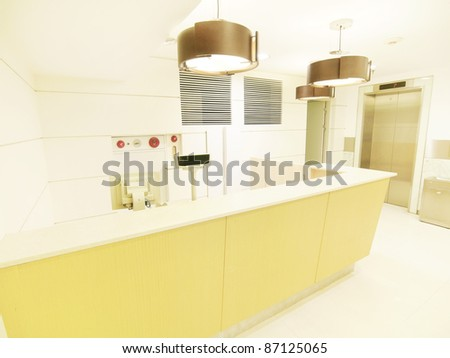 Checkout counter in store - stock photo