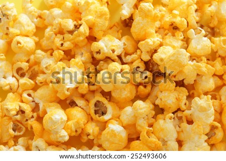 Cheddar cheese pop corn - stock photo