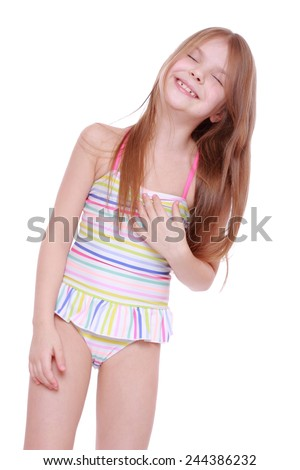 Cheerful and funny kid  - stock photo