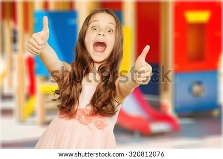 Cheerful Child. - stock photo