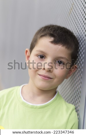 Cheerful child looking at the camera