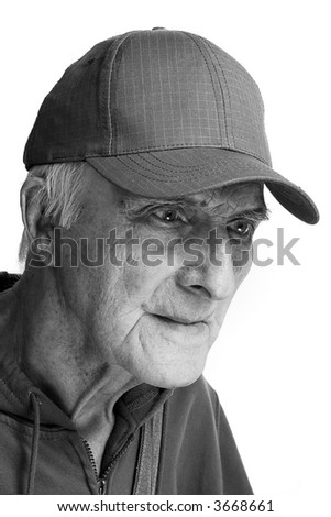 cheerful elderly man-optimism and thirst of a life - stock photo