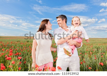 cheerful family - stock photo