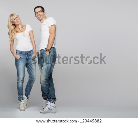 Cheerful friends - stock photo