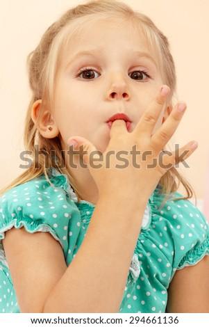 Cheerful little girl. - stock photo