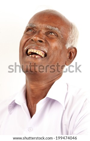 Cheerful Portrait of a Asian man. - stock photo