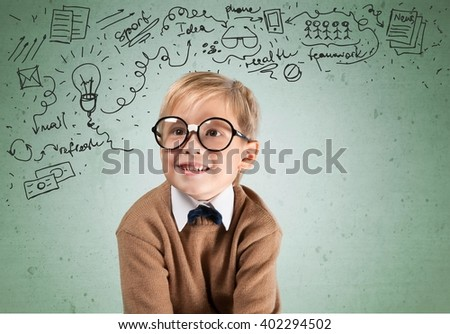 Cheerful smiling boy. - stock photo