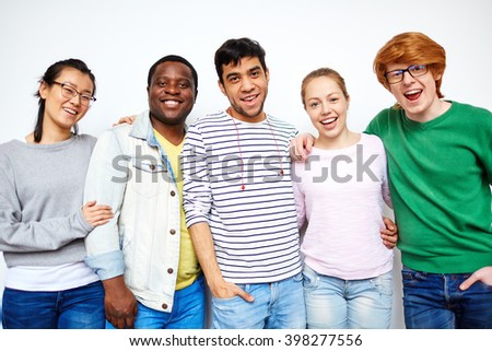 Cheerful students - stock photo