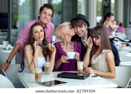 Cheerful young people - stock photo