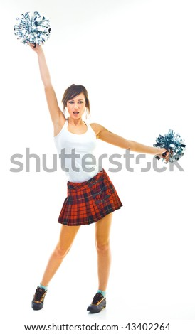 cheerleader - stock photo