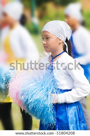 cheerleader in action - stock photo