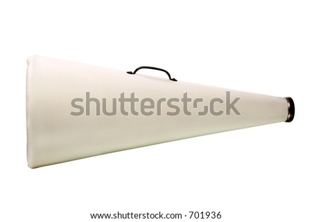 cheerleader megaphone with white copy space to get your message across - stock photo