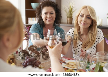Cheers for great party together - stock photo